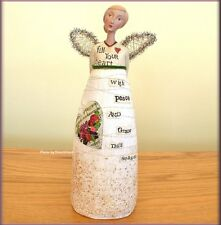 """PEACE AND GRACE ANGEL FIGURE BY KELLY RAE ROBERTS 9"""" HIGH FREE U.S. SHIPPING"""