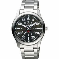 Orient FUNG2001B SP Flight Quartz Black Dial Stainless Steel 50m Men's Watch