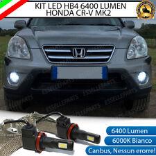 KIT FULL LED HB4 9006 HONDA CR-V MK2 II 6000K CANBUS 6400 LUMEN FENDINEBBIA