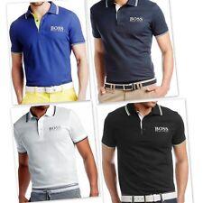 Hugo Boss Men's Short Sleeve Slim Fit T-shirt, S-XXL, 100% Cotton, Black & Blue