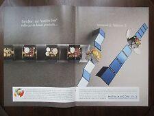 1/1992 PUB MATRA MARCONI SPACE EUROSTAR INMARSAT 2 TELECOM 2 SATELLITE AD