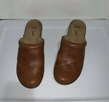 Clarks Brown Leather Clog 16724 Women's 9.5M