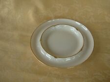 Lenox Classic Ivory Ash Tray Double Round Gold Trim