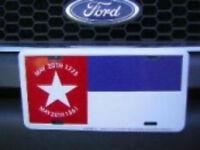 "North Carolina Republic Flag 6""x12"" Aluminum License Plate Sign"