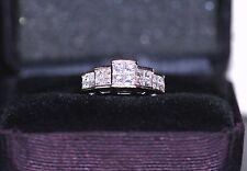 $2699 1 Carat Princess Quad Diamond 14K Yellow Gold Engagement Anniversary Ring
