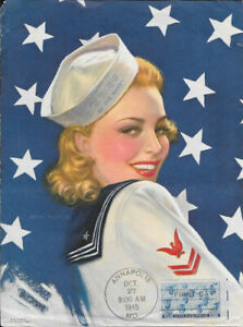#935 First Day Patriotic Poster 3c Navy Stamp w/FDC