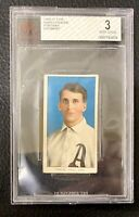 1909 T206 Harry Krause Portrait Piedmont BVG 3 VG Philadelphia Athletics