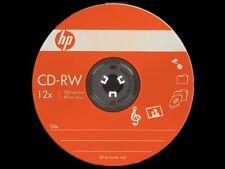 10 HP Brand 12X Logo Top CD-RW CDRW ReWritable Blank Disc Media Paper Sleeve