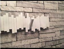 Wall Mounted Storage Hanger 5-Hook Rack Holder Hallway Hanging Coat White Sticks