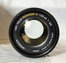 Minolta MD Tele Rokkor-X 135mm F3.5 manual focus lens . Excellent condition