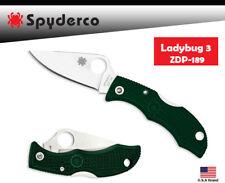 Spyderco Folding Knife LADYBUG 3 ZDP-189 Blade Racing Green FRN Handle LGREP3