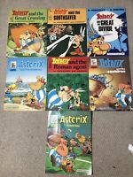 Asterix Books Lot Of 7 Rare 1970 1980
