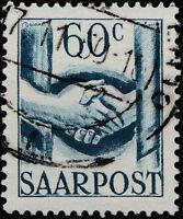SARRE / SAARLAND - 1948 - Mi.240 60c handshake - Very Fine Used