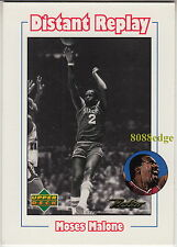 1999-00 UPPER DECK RETRO DISTANT REPLAY: MOSES MALONE #D6 12x ALL-STAR, 3x MVP