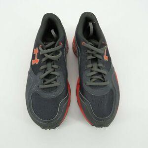 Under Armour Girls Gray Orange Running Shoe Size 5.5