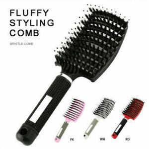 Massage Abody Scalp Detangle Hair Comb Hairbrush Nylon Brush Wet Bristle Tool US