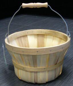 Chipwood  BUSHNELL Apples Fruit Vegetables Harvest Basket Metal Handle NEW w/TAG
