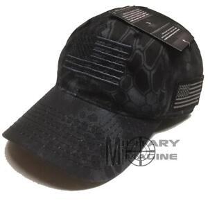 KRYPTEK Tactical Operator Hat Ball Cap w/ American Flag Outdoor Camo Hunting