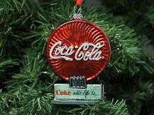 """Coca Cola, Coke Blown Glass Christmas Ornament, """"Neon Sign"""""""