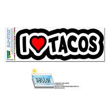 I Love Heart Tacos - SLAP-STICKZ™ Automotive Car Window Locker Bumper Sticker