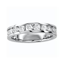 14K Ladies Round Diamond Wedding Band Round Channel Ring 1/4 Ct