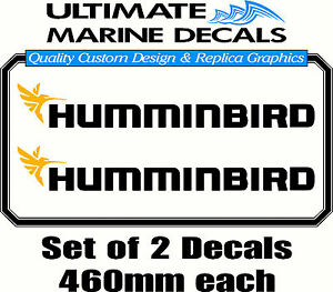 Humminbird Fishing Boat Sticker Decal Set of 2, 460 x 65mm each