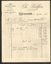 """TOULOUSE (31) USINE de BOUTONS de NACREMERCERIE """"Ch. KALFON"""" en 1908"""