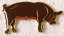 Hat Lapel Pin Scarf Clasp Animal Pig Brown right NEW