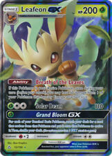POKEMON LEAFEON GX 13/156 ULTRA RARE HOLOFOIL MINT CARD