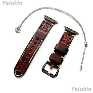 Gemini Zodiac Set Embossed Leather Band for Apple 38 40 42 44mm Watch All Series