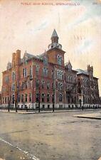 Springfield Ohio~Public High School~1908 Postcard