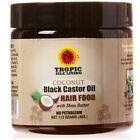 Tropic Isle Living COCONUT Jamaican Black Castor Oil Hair Food 4oz /FreeNailFile