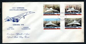 New Hebrides - 1978 Concorde First Day Cover