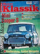 MOTOR KLASSIK 7-94+MINI COOPER+PEUGEOT 504 COUPÈ & CABRIO+MERCEDES PONTON+ROLLS