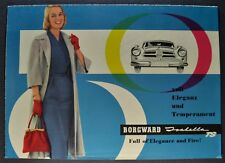 1958 Borgward Isabella TS Sales Brochure Folder Excellent Original 58