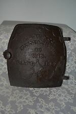 Antique 1882 Cast Iron Brand & Co. Wood Stove Iron Door