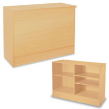 Laminated Wood Service Counter in Maple 48 W x 20 D x 38 H Inches Assembled