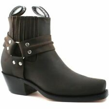 Grinders Leather Slip On Boots for Men