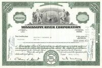 Mississippi River Corporation Common Stock Certificate Green 1970's