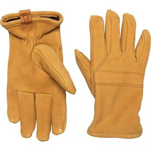 NWT New Men's UGG AUSTRALIA Leather Gloves Timber Tan Light Brown Large