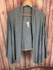 IVIVVA Girls Size 10 Gray Knit FOUR'S A CHARM Cardigan Asymmetrical 85