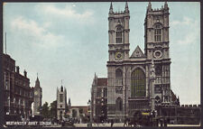 London. Westminster Abbey. Early Printed Postcard by P. P. & P. Co. Croydon