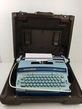 VTG Smith Corona Coronet Super 12 Coronamatic Typewriter Blue with Case