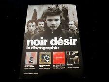 NOIR DESIR/LA DISCOGRAPHIE/PLAN MEDIA RECT VERSO/PRESS KIT/ML