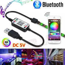 3/5M 5050 RGB Waterproof LED Strip Light SMD Kit Bluetooth Phone Controll Remote