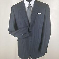 CORNELIANI Sport Coat 2 Btn Side Vents  Gray Stripe  4 Season Wool   38 Reg
