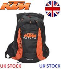 Black KTM Style Racing 20L Motorcycle Bag Backpack Enduro Rucksack + RAIN COVER
