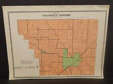 Illinois Christian County Map Taylorville Township c1930 W20#22
