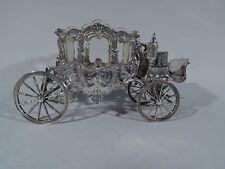 Antique Centerpiece - Rococo Revival Carriage Coach - German 800 Silver