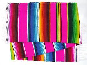 Artisan Falsa Mexican Blanket Saltillo Serape Yoga Throw Made in Mexico X-Large